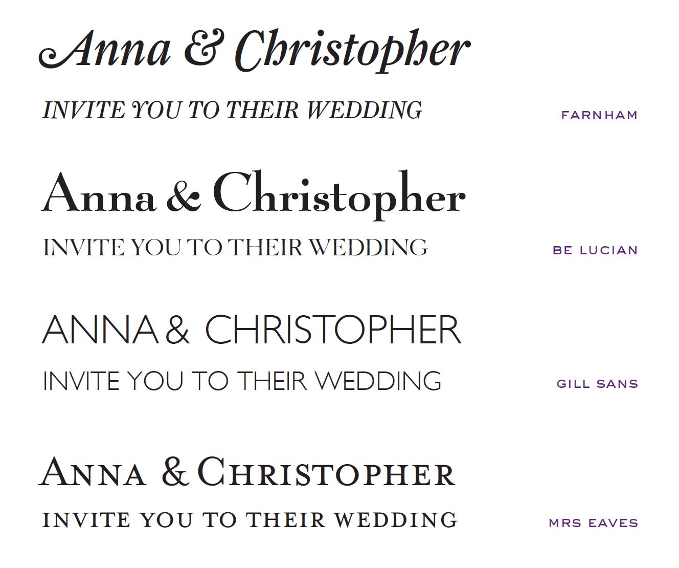 Fonts For Wedding Invites: Wedding Invitation Fonts At Emily & Jo
