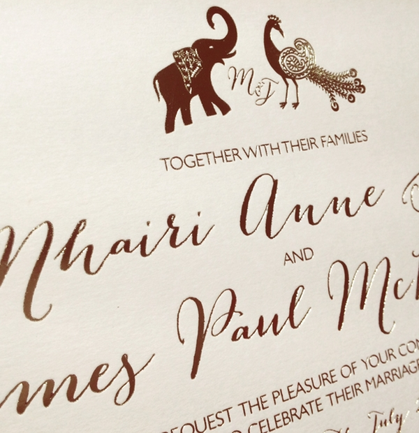 Bespoke Wedding Stationery - personal wedding illustration