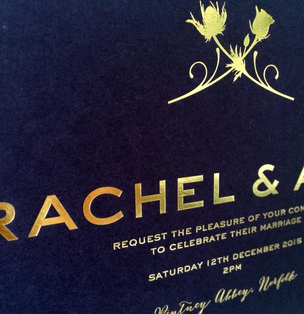 Bespoke Wedding Stationery - personalised wedding invitations