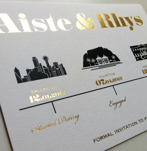 Bespoke Wedding Stationery - formal personalised wedding invitation