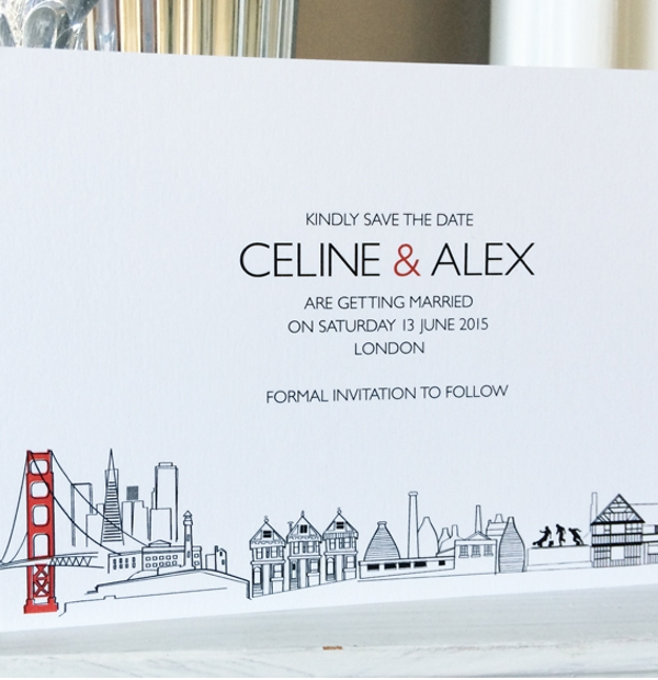 Bespoke Wedding Stationery - illustrated wedding invites
