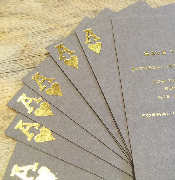 Bespoke Wedding Stationery - playing card wedding invites