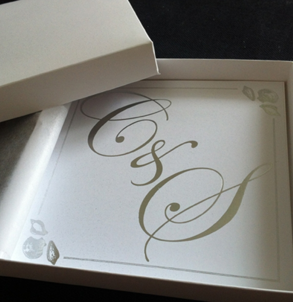 Bespoke Wedding Stationery - Boxed wedding invitations