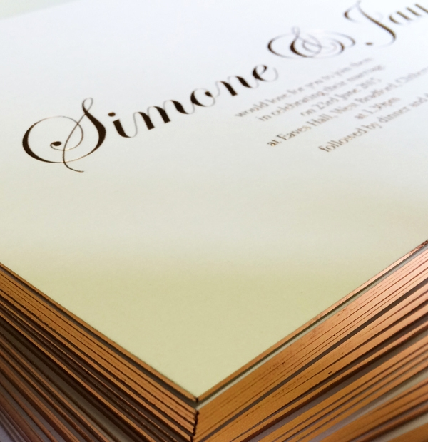 Wedding Invites - romantic font