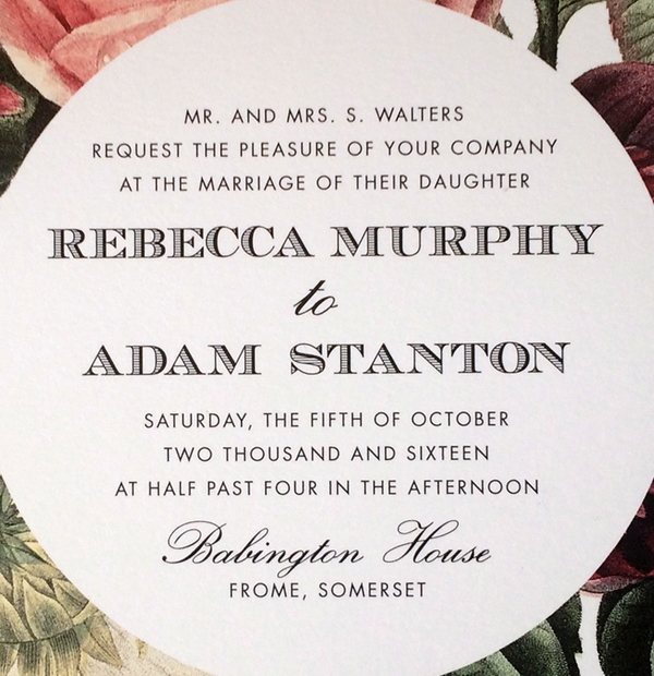 Wedding Invites - decorative font
