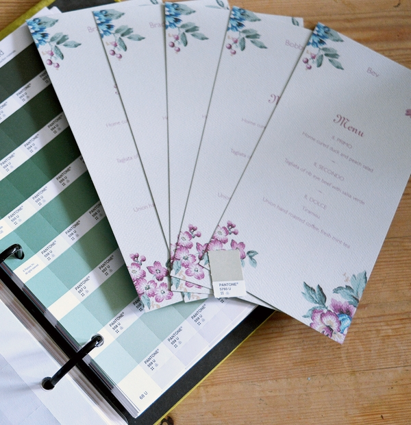 Wedding Invitations - colour palettes