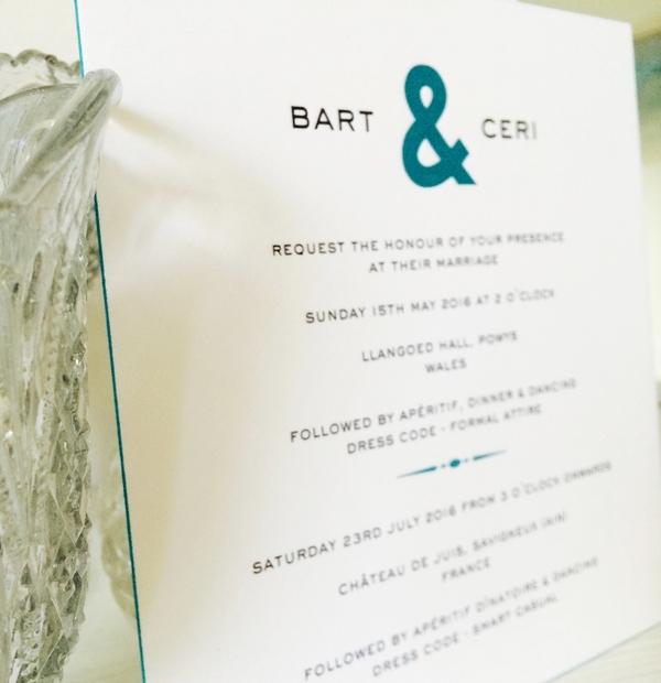 Wedding Invitation - colour stripped