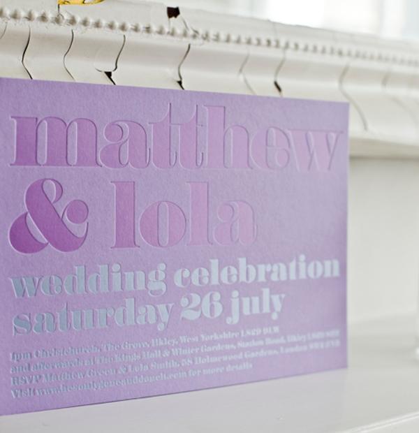 Wedding Invitations - letterpress card