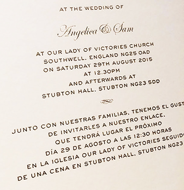 Wedding Invites & Wording Inspiration - English & Spanish