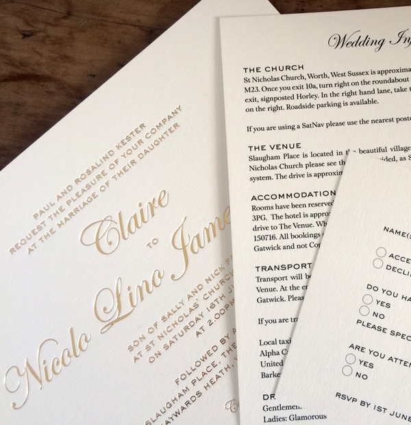 Wedding Invites & Wording Inspiration - Order of service