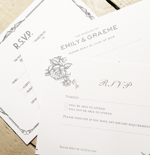 Wedding Invites & Wording Inspiration - RSVP