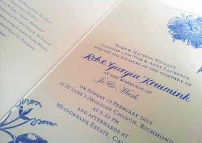 Copperplate on Emilyandjo invite