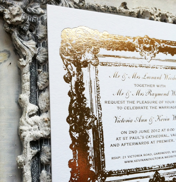 Wedding Stationery - vintage frame